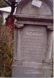 Mordechai son of Benjamin ROTH (acrostic for Mordechai down right side of gravestone)