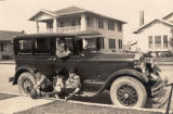 Beautiful old pic of Uncle George, Aunt Janice and grampa. My great grandfather, a professional photographer, is in car.