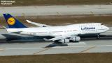 Lufthansa B747-430 D-ABVM landing at Miami International Airport aviation stock photo