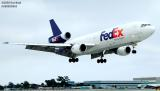FedEx DC10-10(F) N395FE (ex-United Airlines N1830U) aviation stock photo