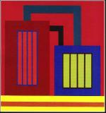 Peter Halley-acrylic on paper