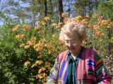 Caroline Dean in her garden