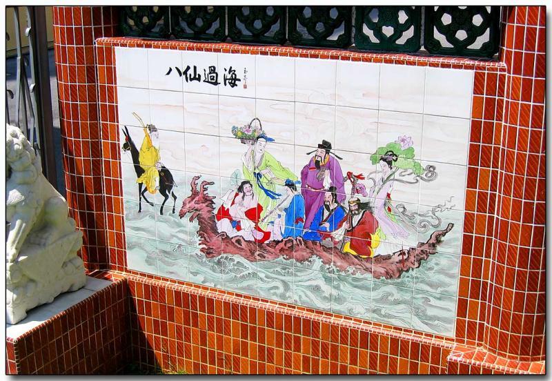Walking around - Ceramic tile art