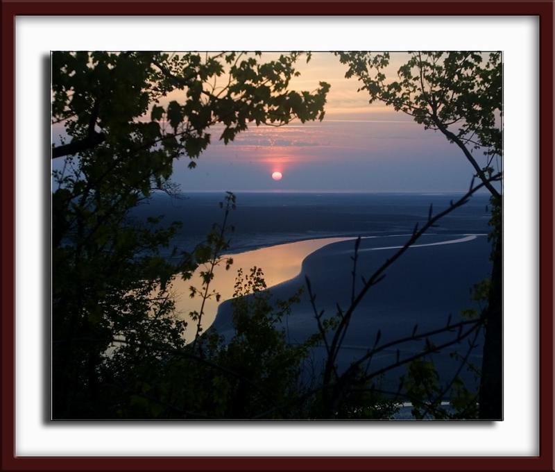 ...à l heure du coucher de soleil