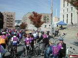 Riders join the formation on the steps of the Bronx County Courthouse at 161st Street just west of the Grand Concourse.