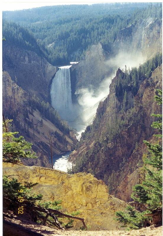 Yellowstone Park Lower falls