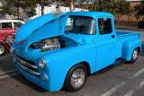 1955 Dodge pickup packin' heat - Fuddruckers, Lakewood, CA weekly Sat. night meet