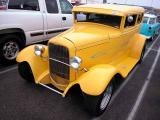 1930 or 1931 Model A Ford with 1932 grill   - donut derelicts Sat. morn. meet, Huntington Beach, CA