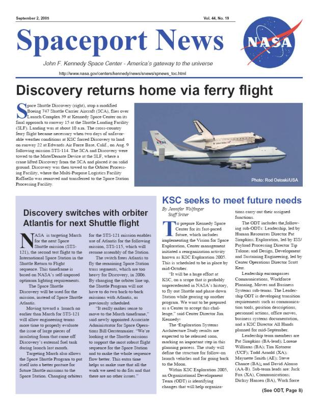 Nasa Spaceport News KSC