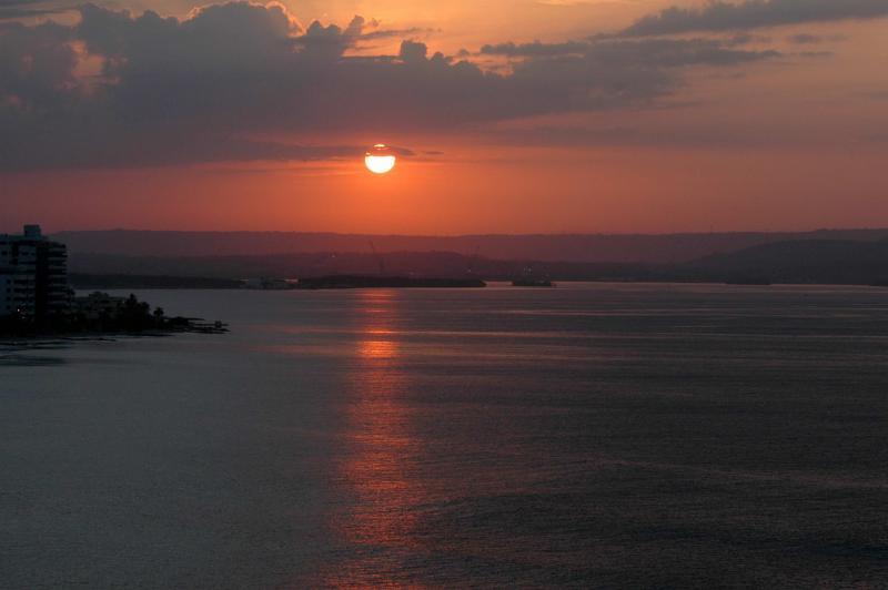 Sunrise in Cartagena Bay
