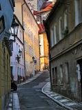 A narrow Prague street