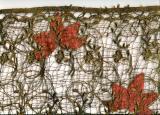 Embroidered Lace w/Silk Applique