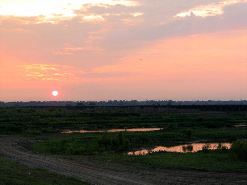 Sunset Over the Bonnet Carre Spillway