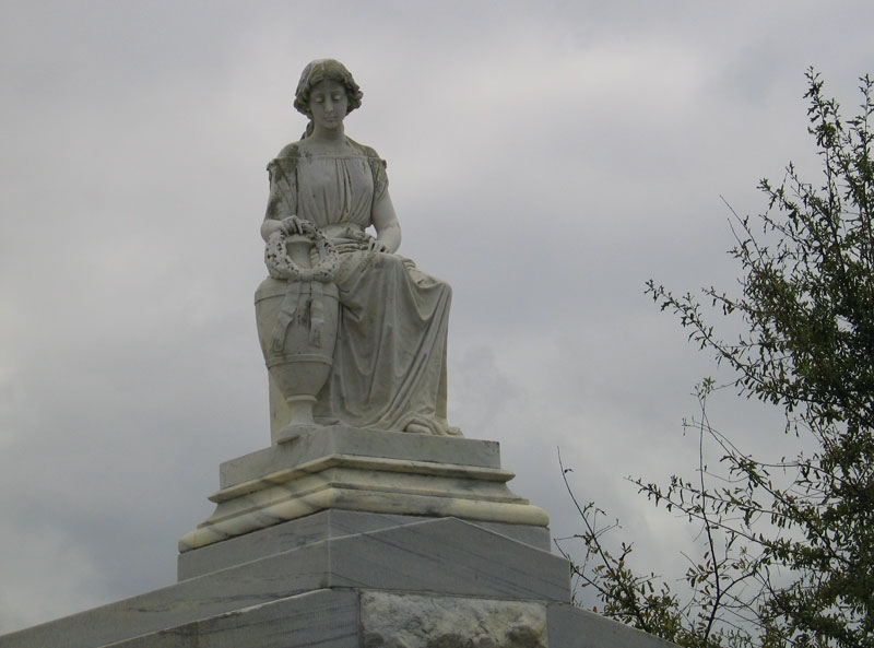 Sculpture on top of tomb