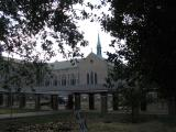 The Covered Way and Sacred Heart Courtyard View from Nashville Avenue