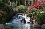 Mauritius - Pool Waterfall (Hilton)