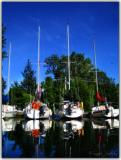 Dreamy sailboats