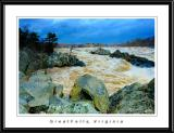 Great Falls during the flood, VA