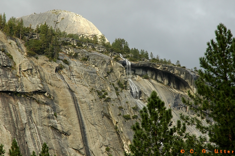 North Dome and Royal Arches waterfall
