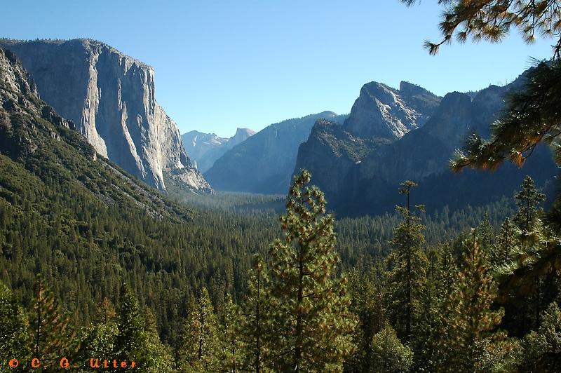 Yosemite Valley from Wawona Tunnel