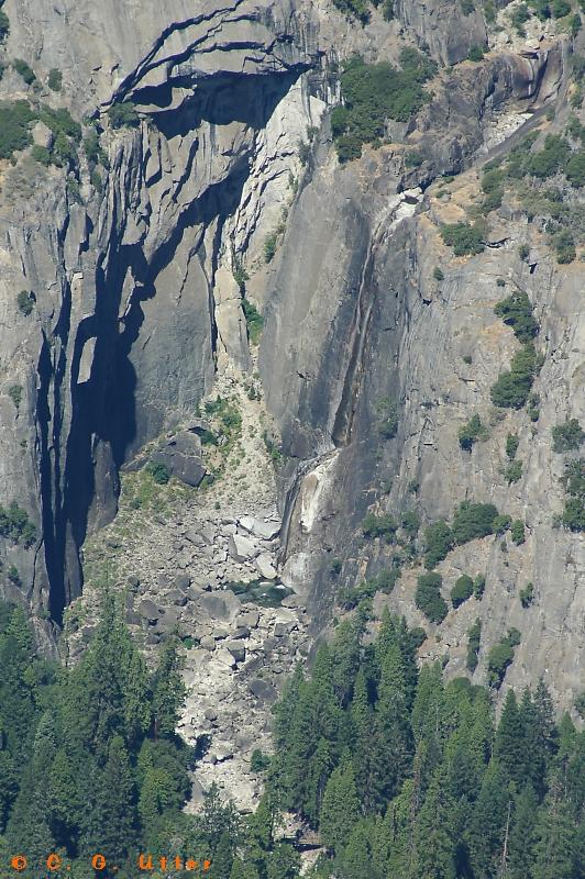 Lower Yosemite Fall - detail