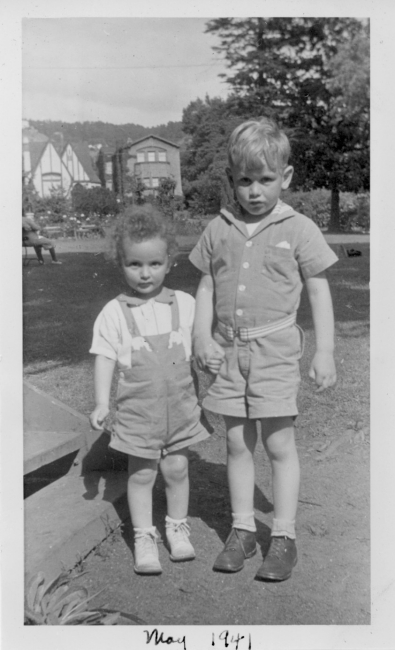 Chris and older brother, 1941