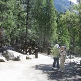 Footbridge at Lower Yosemite Fall