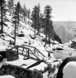 Footbridge above Yosemite Falls, 1970