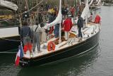 Pen Duick II dans le port du Crouesty
