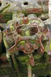 Epaves de l'île Berder - Détail d'un vieux moteur d'un bateau de pêche