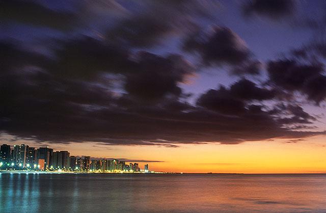 Fortaleza skyline at twilight