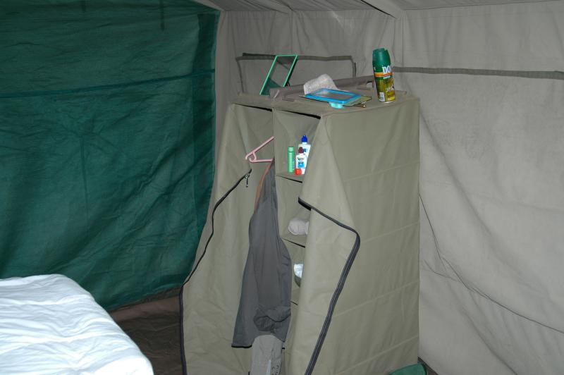 Clothes Storage in the Tent