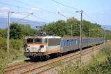 The BB25644 pushing a Regional train near Les Arcs.