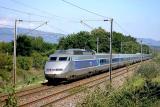Double unity of TGV Sud-Est near Les Arcs.