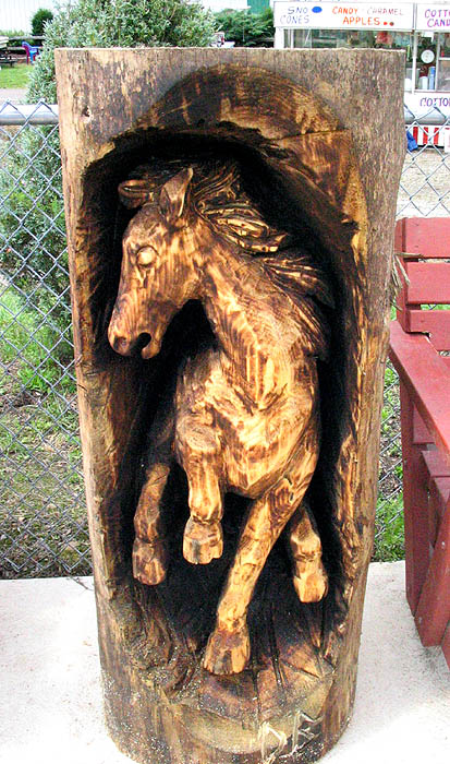 Chainsaw carved horse photo julia lewis photos at pbase