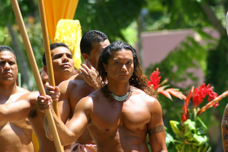 One of King Kamehamehas Warriors