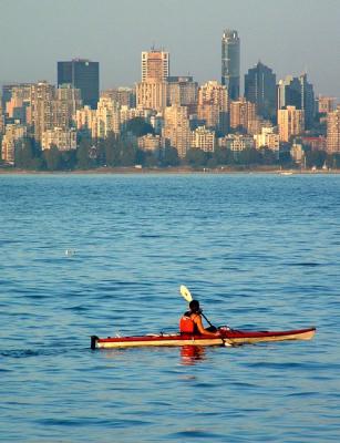 Kayaking at Jericho Beach