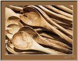 Olive Wood Salad Spoons