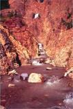 Meade glacier falls and creek