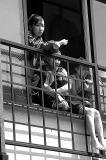 Girls watching parade. Narita
