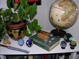 Top of a book shelf