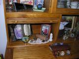 Bergeson marblescope, wooden scope I made in a Knapp class, jumbo O'Grady snakeskin, Strobel scene up top