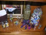 Raz mini's, Benway crystals, Hankzite crystals I dug from Trona, oldy-moldy's
