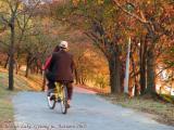 A couple enjoying the evening biking  at Bomun..