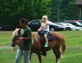 She does not believe I have my own horse...