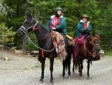 Sally and Peg rode from Keenes for the dedication