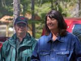 Becky Wirth and Linda Cody at the dedication