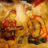 Wall fresco1, Sigiriya, circa 3BC