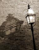 Beacon Hill: Gaslamp Shadow (Sepia)