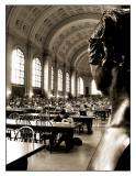 Back Bay: Boston Public Library - Bates Hall (Sepia)